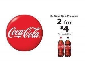 Coca-Cola 2 for $2 2 liter
